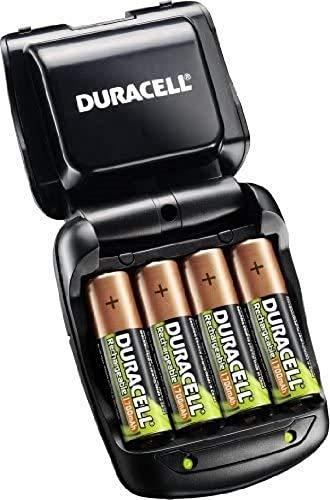 Duracell CEF27 - Pack de pilas y cargador (2 x AA, 2 x AAA, 1700 mAh/750 mAh,)