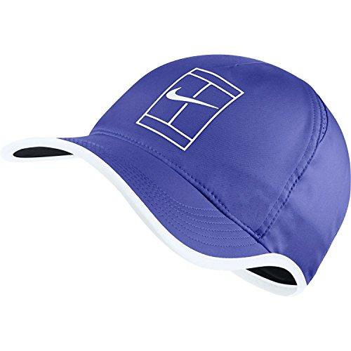 Nike U arobill fthrlt Court Tennis-Cap, Herren Einheitsgröße Blau (Paramount Blue/weiß/schwarz)