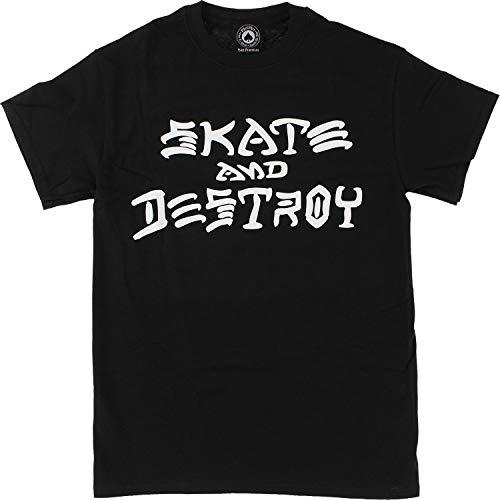 Thrasher Skate Skateboard riviste e distruggi-Maglietta, taglia S, colore: nero
