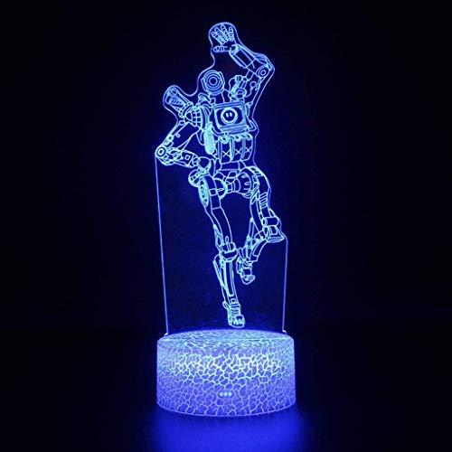 YNHNI Lámpara de Juguete Nightlight 3D Lámparas de Efecto Visual 3D Night Light LED Lámpara de Regalo Colorida Lámpara de Cama Lámpara de Mesa DIRIGIÓ ilusión Noche luz/Luces nocturnas