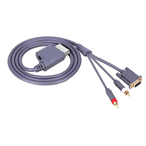 DAUERHAFT Cable AV VGA + 2 RCA Cable Ligero Duradero, para Xbox...