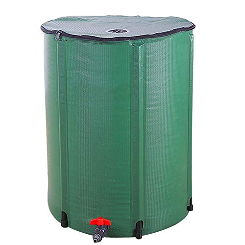 LIVINGPAL 50 Gallon Foldable Rain Barrel, Collapsible Tank Water Storage Container Water Collector with Spigot Filter