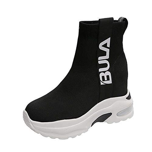 Dames Sokken Schoenen Herfst Nieuwe Casual Mesh Ademende Sneakers Hardloopschoenen 36 Kleur: wit