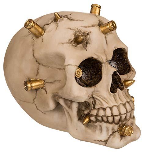 MIK Funshopping Spardose Sparbüchse Totenkopf Skull (Schädel mit Patronenhülsen)