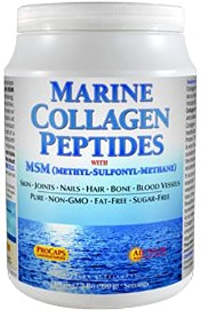 Amazon com: Marine Collagen Peptides with MSM 60 Servings: Health