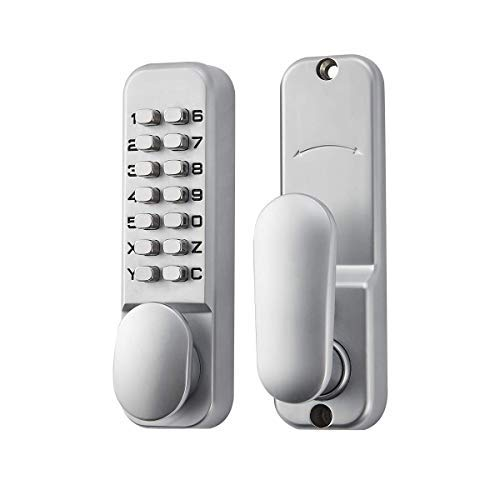 SPOTACT ML101 Mechanical Keyless Door Lock 6 Code Gate Lock,Latch Lock 2-3/8'' and 2-3/4'',Suitable for Garage/Hotel/Office/Studio/Warehouse/File Archives