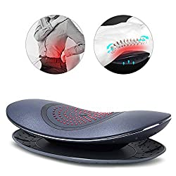 Electric Waist Massager Infrared Heating Lumbar Spine Care Traction Vibration Back Massage Pillow, Muscle Pain Relief for Home Office and Car Use