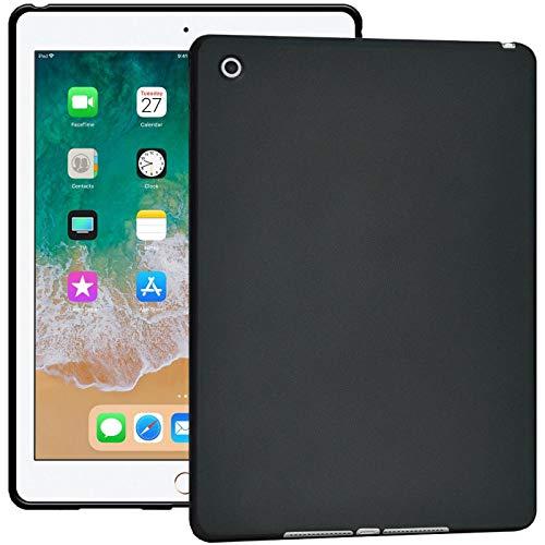 Verco Hülle für iPad Air (2013), Schutzhülle Tablet Tasche Silikon Cover [Modell: A1474 / A1475], Schwarz