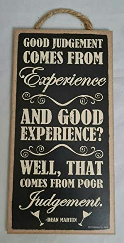 Maryn for Good Judgement Comes from Experience Dean Martin Bar Sign Wall Art Decor 10'x5' DIY for Home Décor Plaques & Signs Seasonal Ornaments