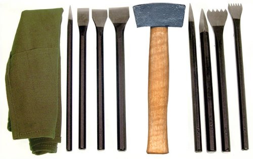 National Artcraft Stone Carving Set Has 9 Tools in A Convenient Roll-Up Pouch