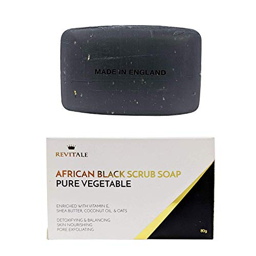 Revitale African Black Natural Oat Scrub Soap - Verdura pura