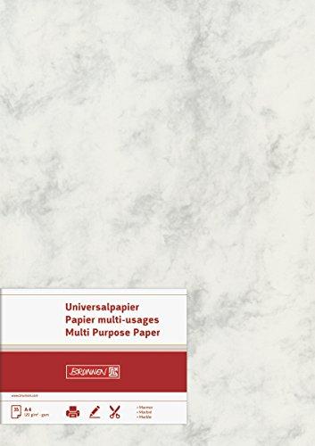 BRUNNEN 105141180 Universalpapier / Multifunktionspapier Marmor (A4, 120 g/m², 35 Blatt, marmoriert) grau