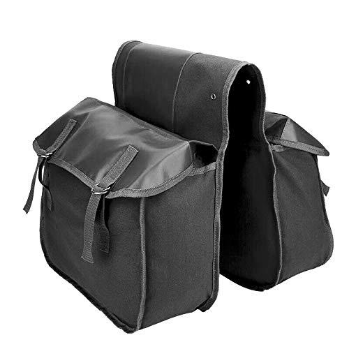 LilyJudy Mochila universal impermeable para sillín de moto, bolsa para sillín de bicicleta, color negro