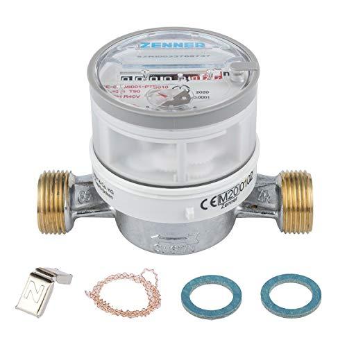 Zenner 146634 Wasserzähler ETWD für Warmwasser Baulänge 110mm