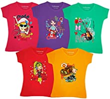 YelloWear Girls T Shirts - Pack of 5