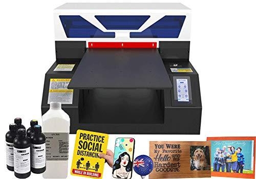 A3 UV Printer,Automatic Height Adjustment Printer,UV Flatbed Printer for PVC Card/Bottle/Phone Case/Plastic/Wood/Badge