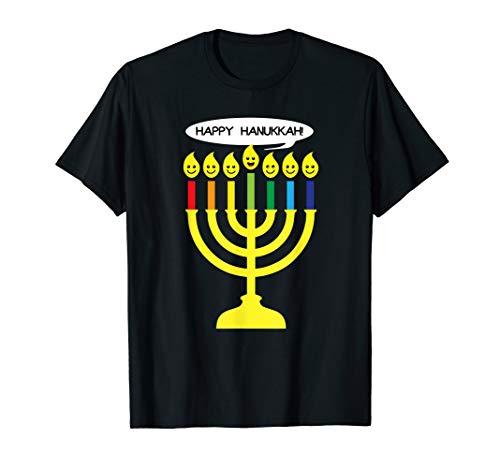Cute Chanukkah Candles Kids & Adults Funny Hanukkah Gift T-Shirt