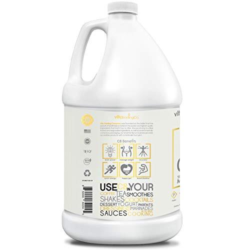 VitaTradingCo C8 100% Pure MCT Oil 128oz | Keto, Paleo & Vegan Diet Friendly | Clean Energy | Healthy Fat | BPA-Free | Sustainably Sourced | 3X Distilled | Non-GMO & Gluten-Free | 256 Serving 2