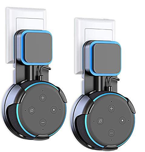 Cocoda Soporte para Echo Dot 3.ª Generación, Solución de Ahorrar Espacio para Asistentes de Voz Doméstico, Inteligentes Dot Accesorios con Gestión de Cables, 2 Unidades Sin Desorden de Cables