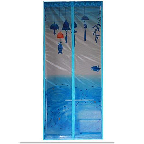 BORUO Magnetische schirmtür Mesh-Vorhang Mit Full-Frame Velcro Anti-Mosquito Fliegengitter Insekten fliegen Bildschirm-verschlüsselung Selbstklebend,D,120 * 220CM