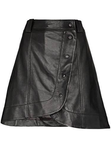 Luxury Fashion   Ganni Dames F4244099 Zwart Leer Rokken   Lente-zomer 20