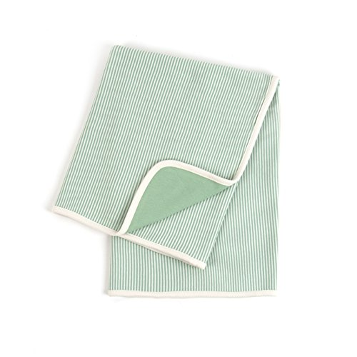 Tadpoles Organic Cotton Double Layer Receiving Blanket, Sage