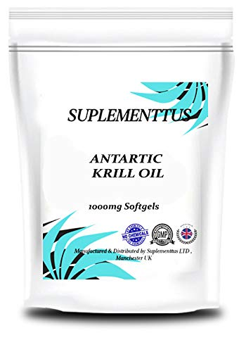 Antartic Krill Oil 1000mg Softgels Natural Supplement - Suplementtus UK Manufactured (60)