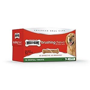 Milk-Bone Brushing Chews Daily Dental Dog Treats, Large, 14 Count