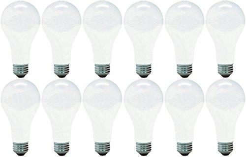 GE Incandescent Light Bulbs, A21 Light Bulbs, 150-Watt, 2440 Lumen, Medium Base, Soft White, 12-Pack, General Purpose White Light Bulbs