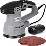 NETTA 430W Random Orbit Electrical Sander with 6 Adjustable Speed Dials - Includes