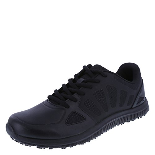 safeTstep Black Men's Slip Resistant Avail Runner 11 Wide