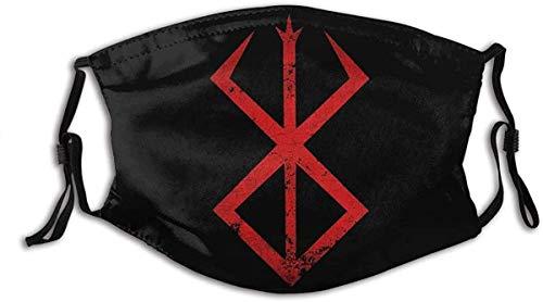 Cloth Face Mask Washable Berserk Anime Symbol Anti Filter Dust Fabric Mask Reusable Custom A35