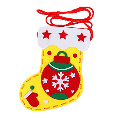 Sinifer DIY Christmas Stocking, Christmas Decorations, Great Fireplace Decor, Party Accessory, Santa, Snowman, Xmas Character, 8×6 Inch