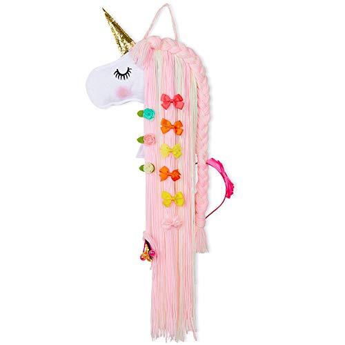 Basumee Haarspangen Aufbewahrung fur Mädchen Einhorn Wanddekoration Handgemacht Einhornform Haarklammern Halter aus Filz Und Garn