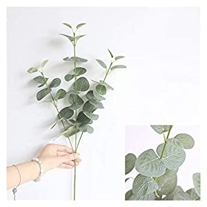 Tlwangl Artificial Flowers New Artificial Leaves Branch Retro Green Silk Eucalyptus Leaf for Home Decor Wedding Plants Faux Fabric Foliage Room Decoration