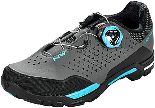 Northwave X-Trail Plus Damen MTB Trekking Fahrrad Schuhe grau/schwarz/blau 2021: Größe: 38