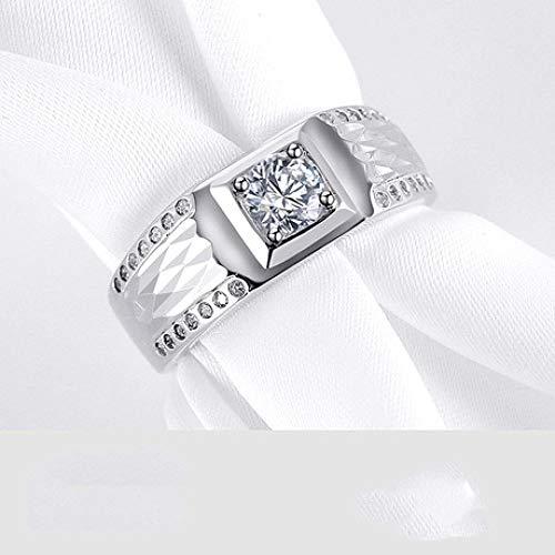 Preisvergleich Produktbild shixiaodan S925 Silber Schnitzerei Auto Blume Herren Ring Set Zirkon offen verstellbaren Ring