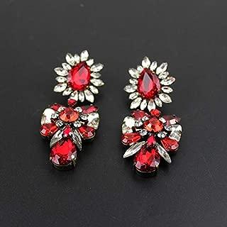 New Stud Earrings Trend Fashion Korean shourouk Earring Crystal Vintage Earrings for Women jewelry668 - (Metal Color: 5)