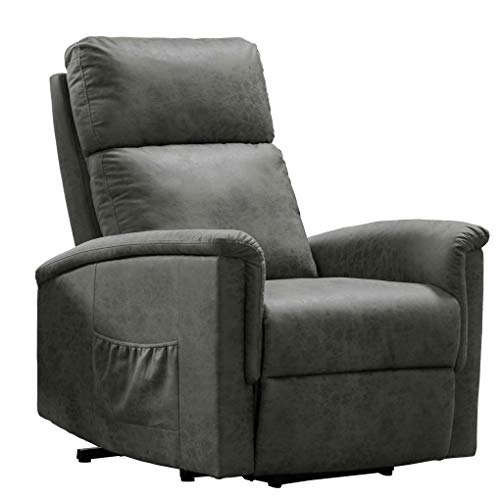Power Lift Recliner Chair Living Room Single Soft Upholstered Lift Lounge Chair with Storage Bag