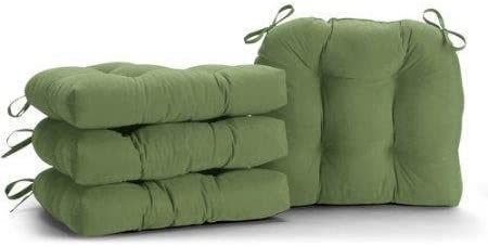 SET OF Outlet SALE 4 GREEN MICROFIBER SOFT PADS KITCHEN CHAIR PLUSH service DINING C