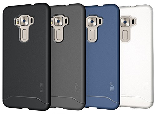 ZenFone 3 ZE552KL (5.5 inch) Case, TUDIA Full-Matte Lightweight [ARCH] TPU Bumper Shock Absorption Case for ASUS ZenFone 3 ZE552KL (5.5 inch) Case (Black)