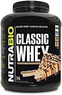 NutraBio 100% Whey Protein Isolate (Chocolate Peanut Butter Bliss, 5 Pounds)
