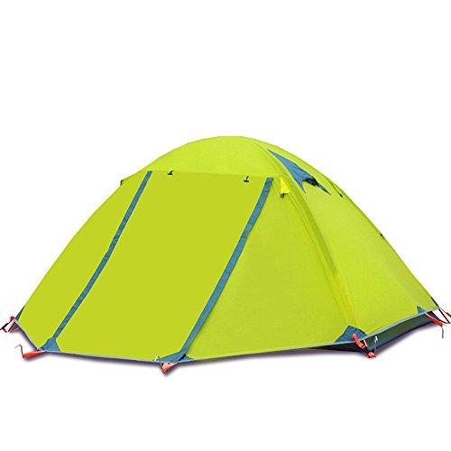 Allamp Alpinismo de los suministros de tiendas de campaña for acampar al aire libre con capacidad for 3-4 personas aluminio doble de viento al aire libre y tormenta de lluvia tienda impermeable al air