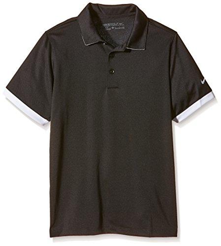 Nike Jungen Polo Hemd Icon, Black/White, L