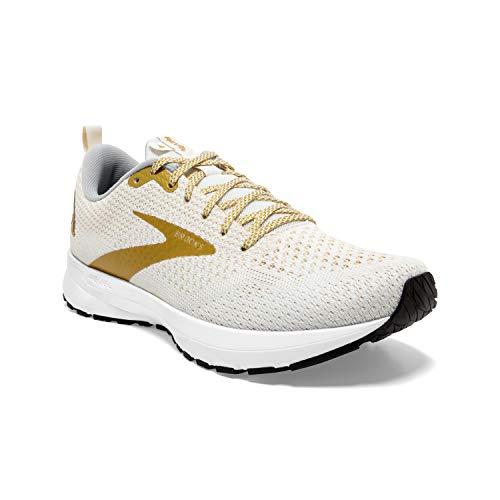Brooks Revel 4 White/Gold 5 B (M)