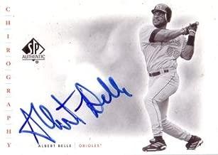 2001 Upper Deck SP Authentic Chirography Albert Belle Certified Autograph Baseball Card