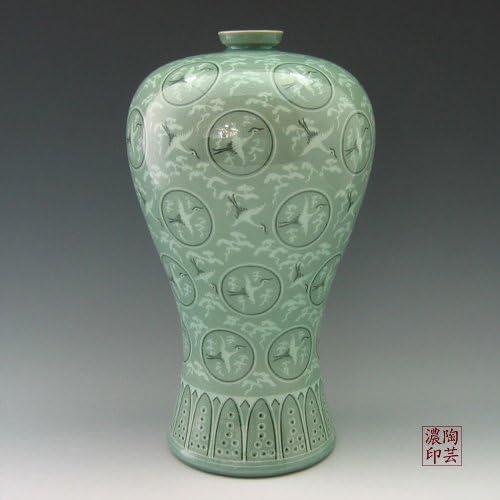 55% OFF Korean Celadon Glaze Inlaid Clouds Pattern and Save money Desi Inlay Cranes