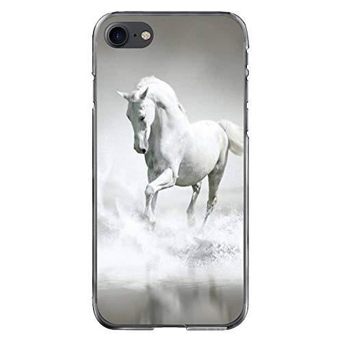 Coque-swag CS01590 - Carcasa para iPhone 7/8, diseño de caballo blanco sobre el agua
