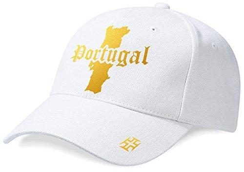 DASHOP Casquette Portugal Mini Pays Blanc et Or Métallisé