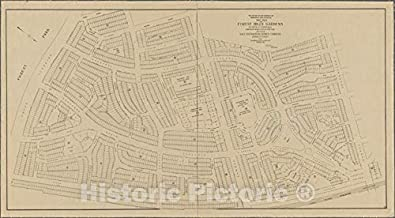 Historic 1912 Map - Map of Forest Hills Gardens, situated at Forest Hills, Borough of Queens, City of New York.of New York City and State - Queens - Vintage Wall Art - 67in x 36in